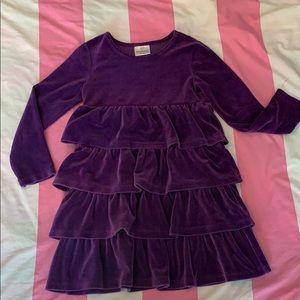 Hanna Andersson Purple velvet A-line Dress